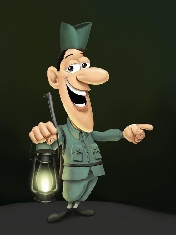 Skofov Francl, soldier Rupnikov - karikatureboris | ello