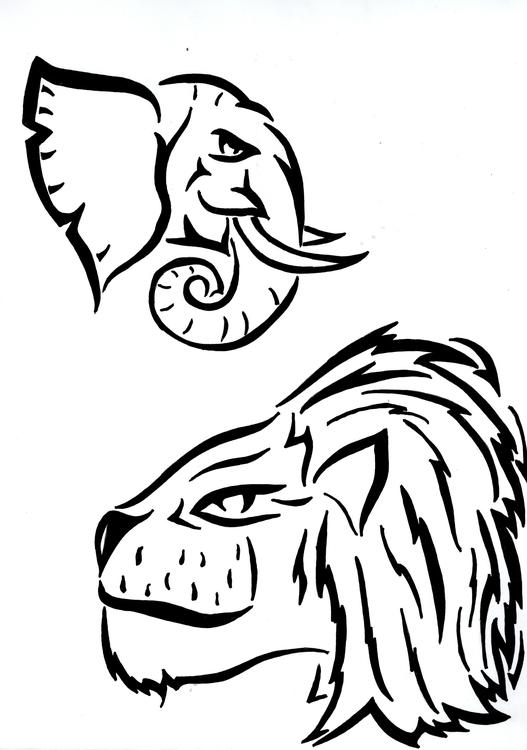 illustration, animals, tribal - kylefinnerty | ello