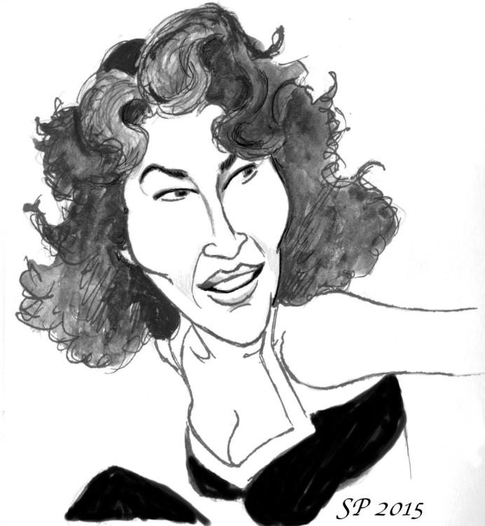 Ava Gardner - illustration - yazzum | ello
