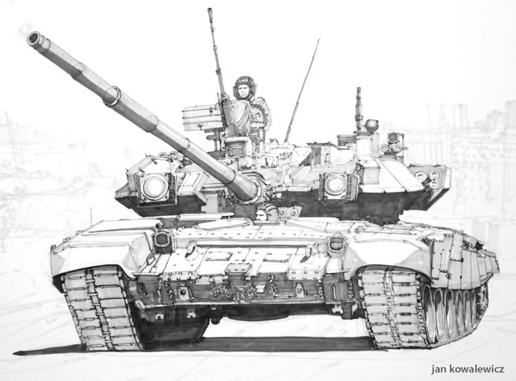 Russian Tank Tria markers, B2 - tank - jandraws | ello