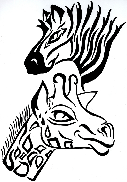 illustration, animals, ink, tribal - kylefinnerty | ello