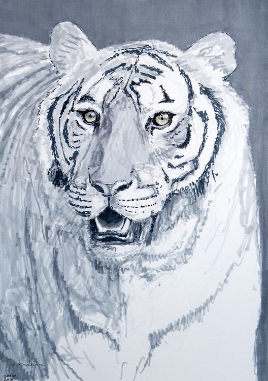 Bengal Tiger Tria Markers, A3 - tiger - jandraws | ello