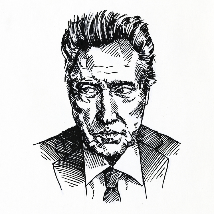 Christopher Walken - fineliner, portrait - prianikn | ello