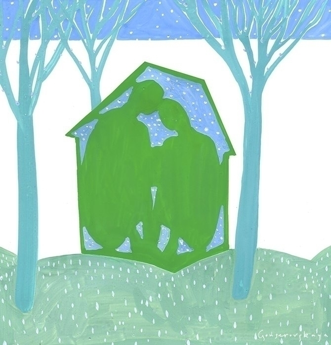 family - illustration, love, green - gonsero | ello