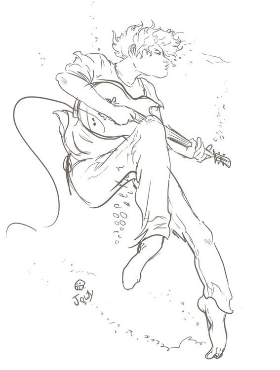 Sketched listening Song Ocean M - jowybeanstudios | ello
