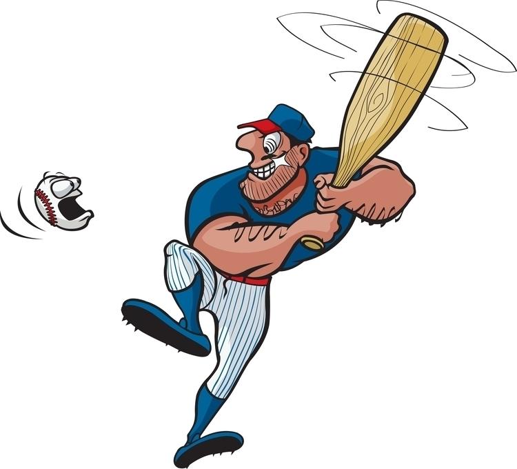 Baseball Stud - cartoon, illustration - toonerman   ello