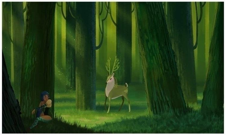 enchanted forest - digitalpainting - caedia | ello