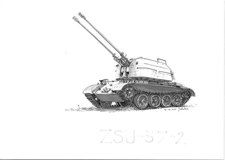 propelled antiair gun Tria Mark - jandraws | ello