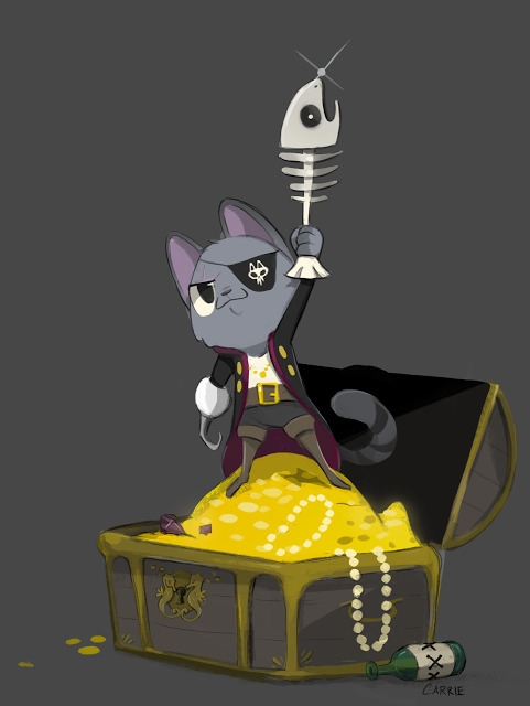 Pirate Cat - carriehankins | ello