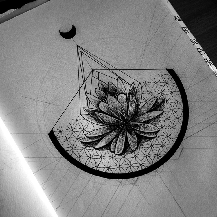 Lotus - illustration, drawing, painting - karolina-4327 | ello