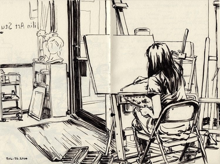 studio - study, sketchbook - linbhu | ello