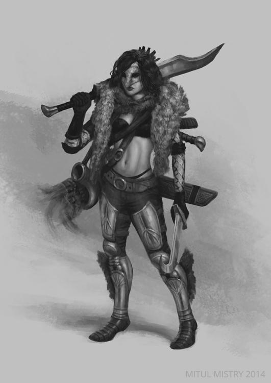 fantasy, characterdesign, digitalart - mitulmistry | ello