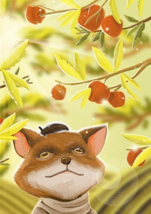 La cosecha - illustration, painting - paolabvntra | ello