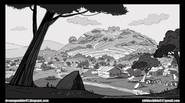 Village Layout - conceptart, drawing - shibiliponnani   ello