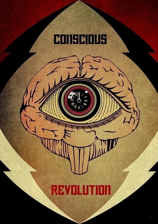 Concious Revolution - thirdeye, propagandaposter - wincky | ello