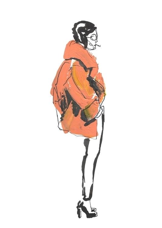 fashion, illustration, cigarette - annagranat | ello