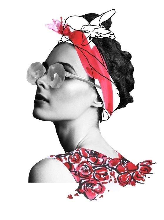 collage, fashion, illustration - annagranat | ello