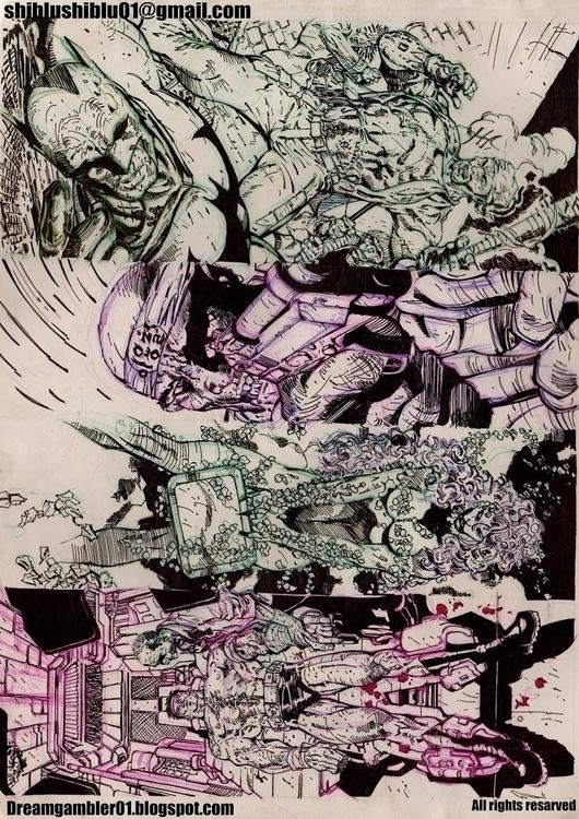 COMIC DRAWINGS - drawing - shibiliponnani   ello