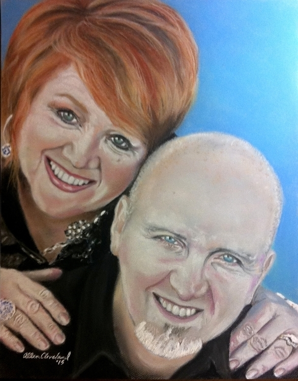 Pastel Portrait parents. Traded - allencleveland | ello