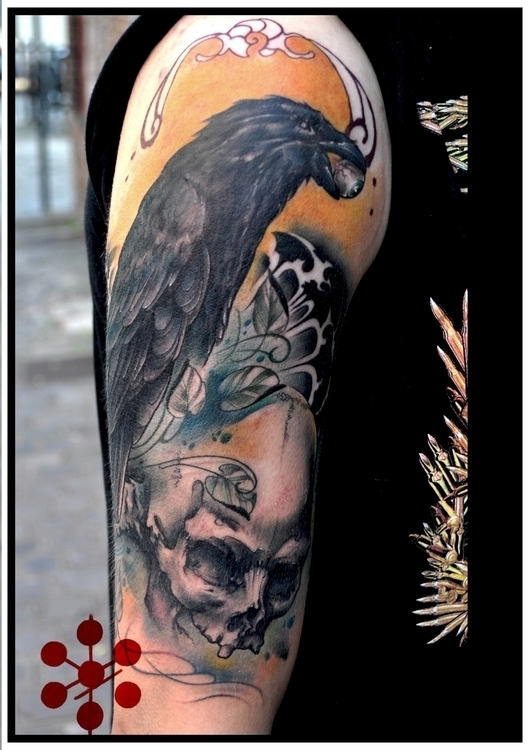 tattoo, tats, tattooartist, crow - yorickfauquant | ello