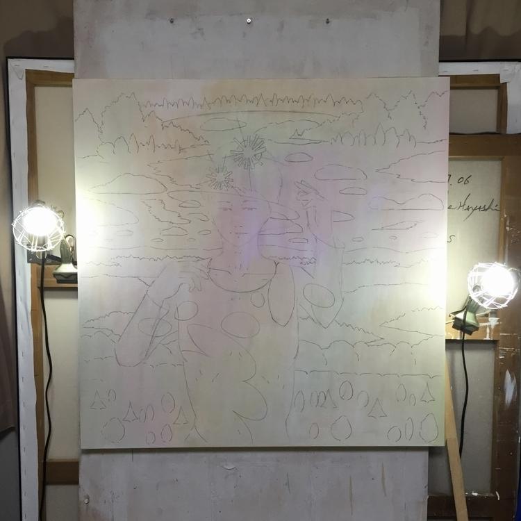 wip 09/01/2016 - painting, acrylic - yusukesugiyama | ello