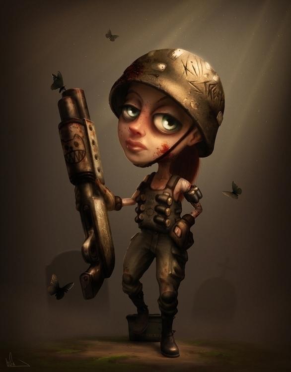 Girl standing. Personal Artwork - kufa | ello