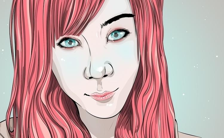 cute eyes - art, illustration, drawing - atsukosan-3588 | ello