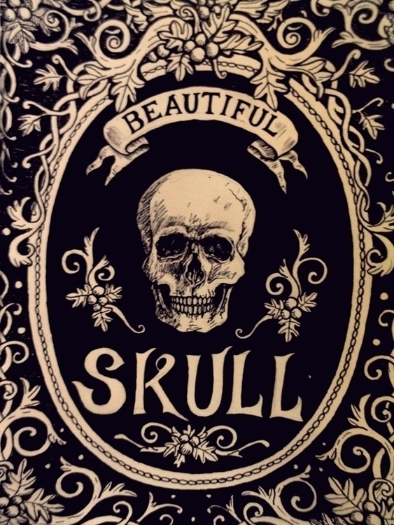 Beautiful skull - sketch, sketchbook - alexfurtado-1327 | ello