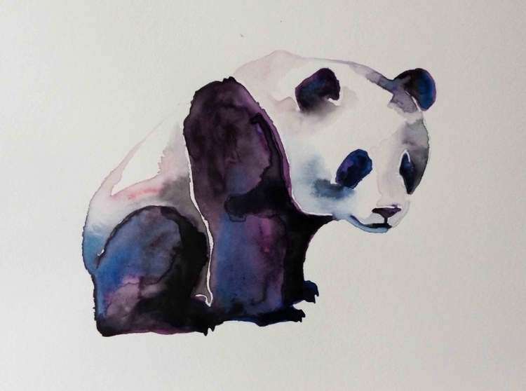 Quick painting panda watercolou - izzywoolley | ello