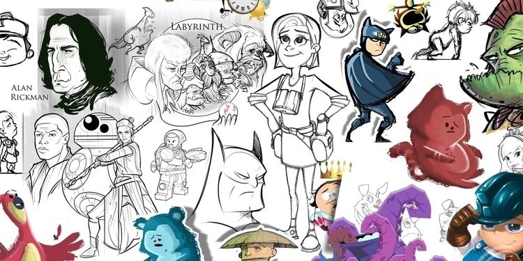 Cartoons - illustration, characterdesign - darrenlewis | ello