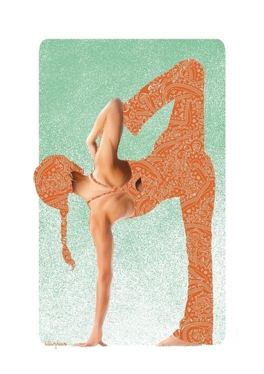 yoga - #yoga#yogaart#yogadesign#illustration#blue#illustration#digitalart#design#characterdesign#photoshop#painting#davisvrworks#drawing#conceptart#digitalart#digitalillustration - mph-7337 | ello