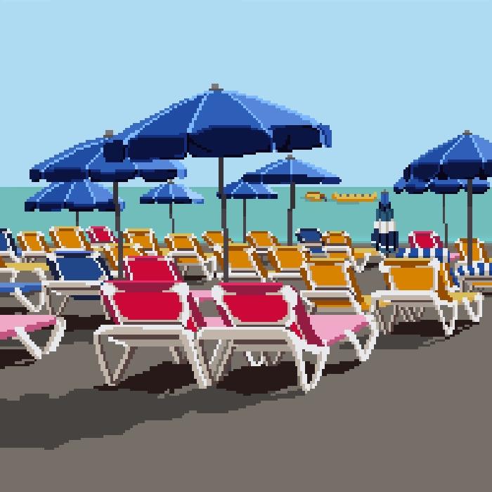Pixel art Taurito, black sand b - nelidazubia | ello