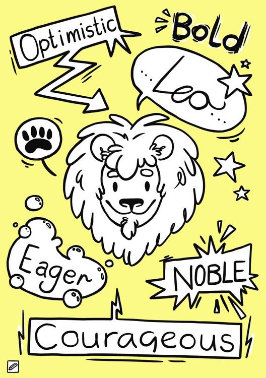 Leo - illustration, zodiac, series - pencilboxillustration | ello