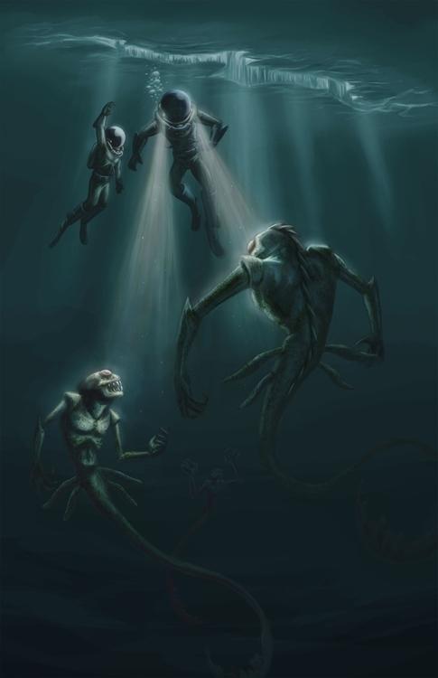 Enceladus Lives Digital - space - mkpowell66 | ello