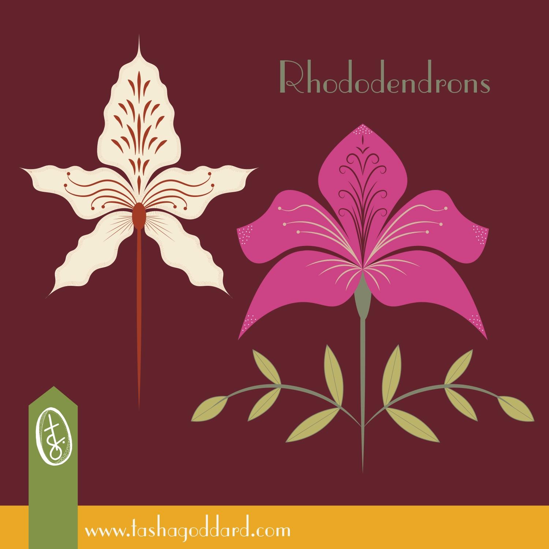 Rhododendron Island Floral repe - tashagoddard | ello