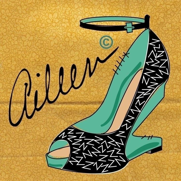 de Zapato - illustration, shoe, pinup - aileencopyright   ello