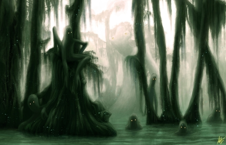 Swamp folk - illustration, painting - blagojemilojevic | ello