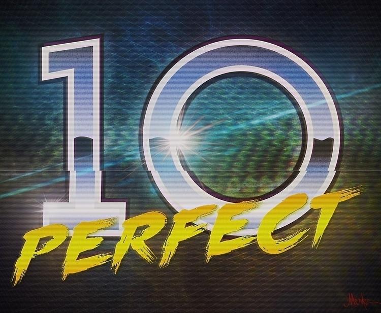 Perfect 10 - illustration, typography - umeshu2016 | ello