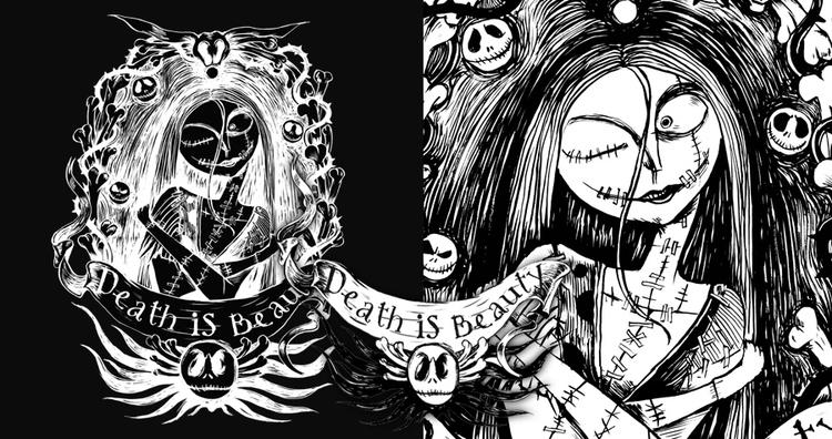 DEATH BEAUTY - illustration, painting - thanathan | ello