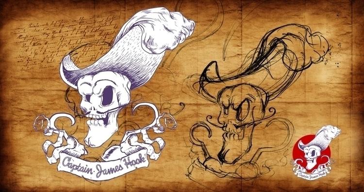 DEATH CAPTAIN HOOK - illustration - thanathan | ello