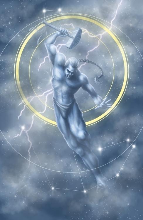Thor Digital - thor, mjolnir, norsemythology - mkpowell66 | ello