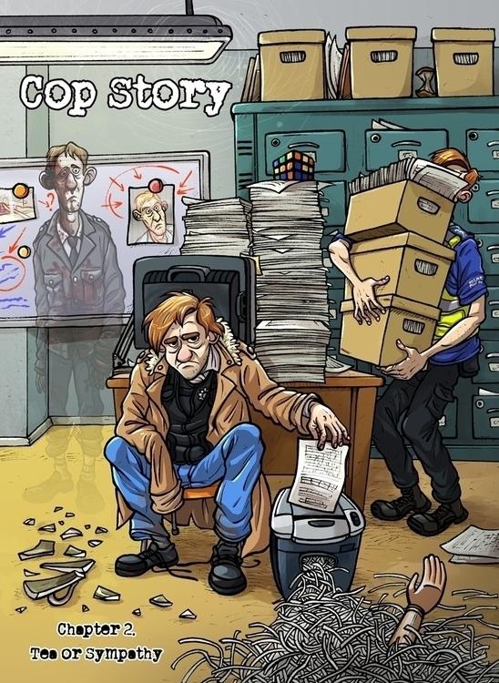Chapter 2 cover - copstory, comics - pcsoly | ello