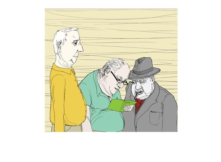 Men - oldman, oldmen, linework - graceblevins | ello