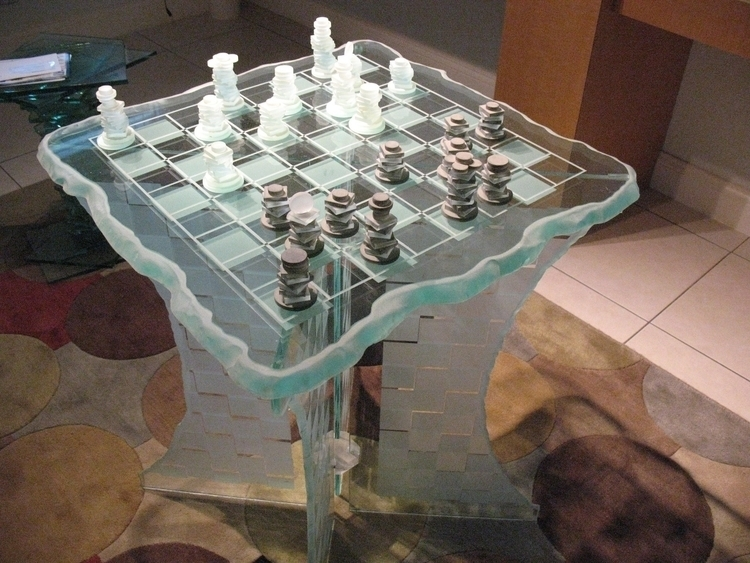 Chess stacked glass - etching - dalespiry   ello