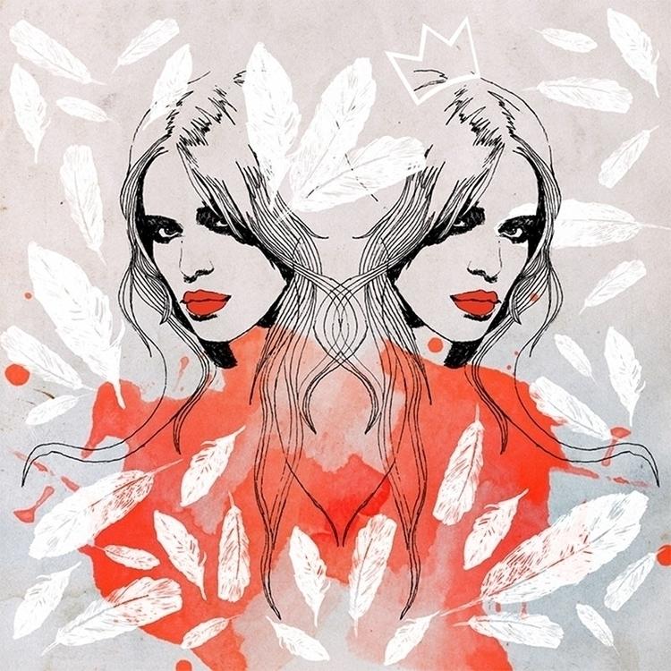 White swan / Design 2012 - drawing - karolina-4327   ello
