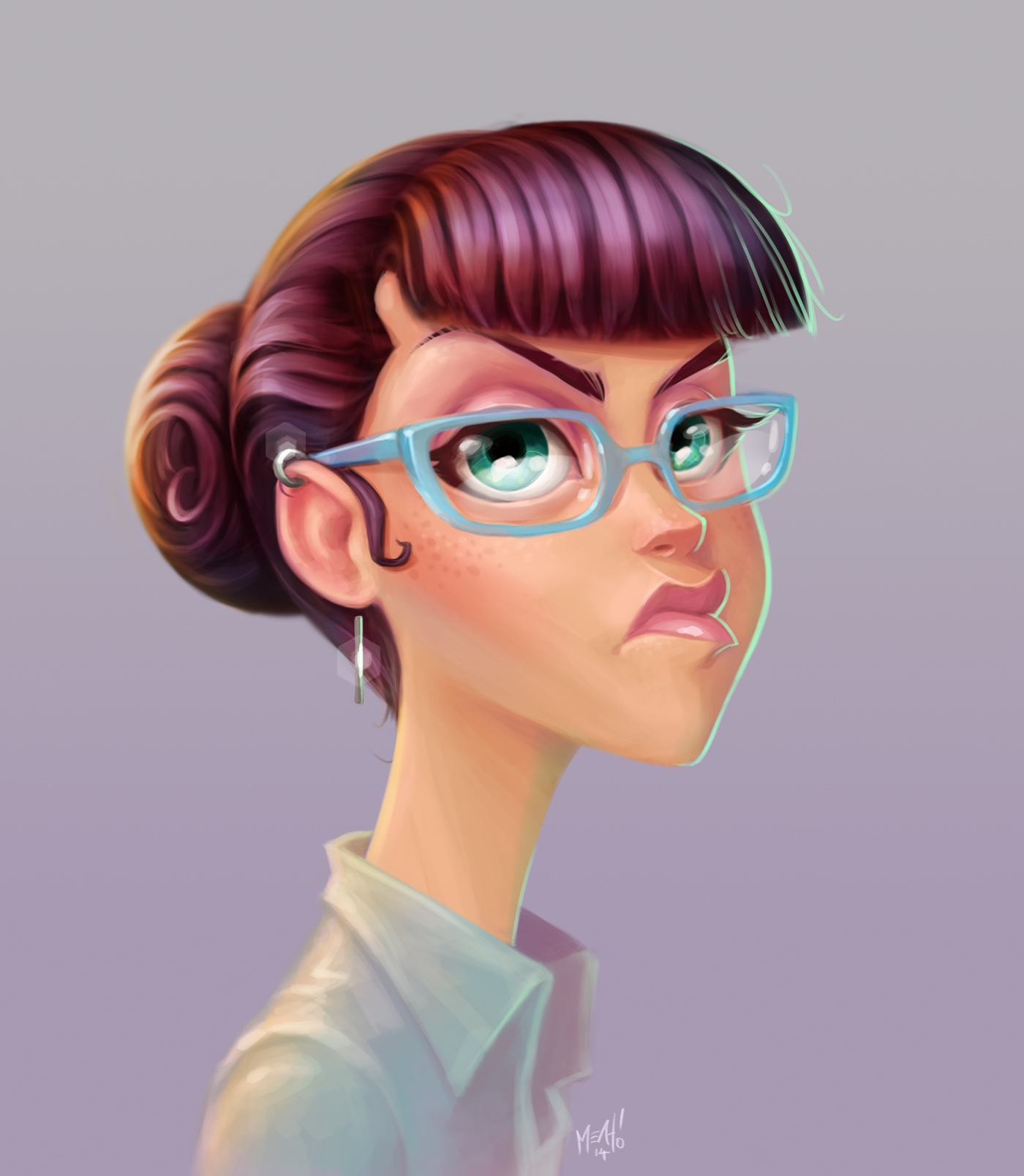 Glasses - illustration, painting - adman2808 | ello