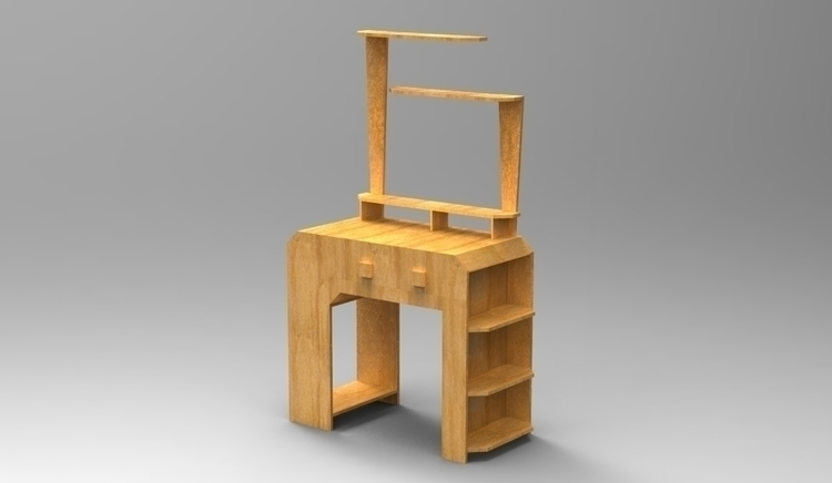 Retro-inspired computer table - furniture - jecca-2173 | ello