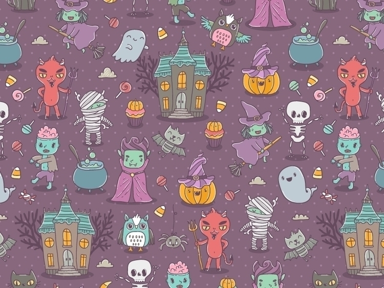 Happy Halloween - illustration, characterdesign - annaalekseeva | ello