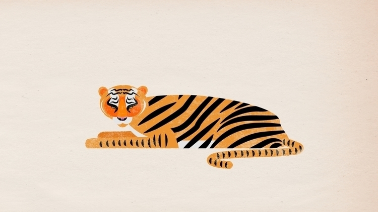 animals, illustration, tiger - scottwenner | ello