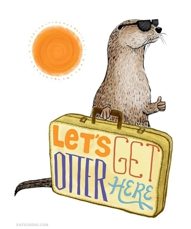 Stir Crazy otter - animals, handlettering - kateoberg | ello